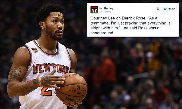 Teammates 'praying' for missing Knicks point guard Derrick Rose after he vanishes   Daily Mail Online