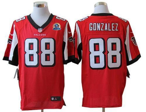 Nike Atlanta Falcons Tony Gonzalez Elite Red With Hall of Fame Patch Men  Stitched NFL Jersey 55de32e7a