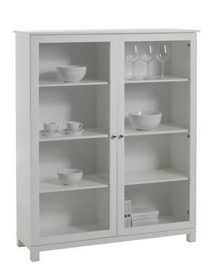 Vilma vitrineskap i hvit, B120xD40xH146 cm Varenummer 80710003 kr - neue küche ikea