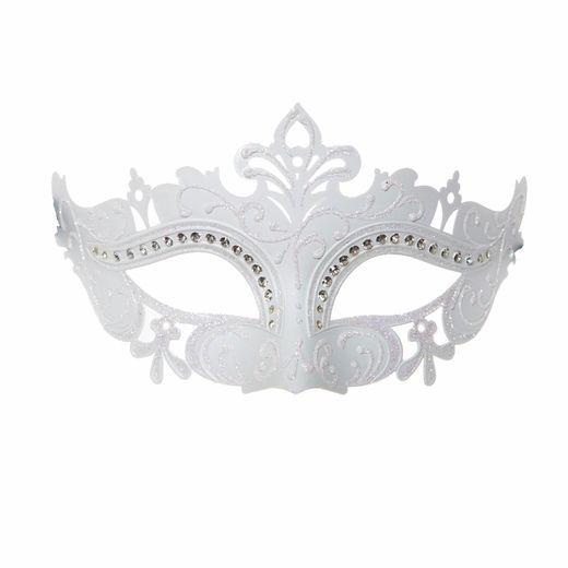 White Venetian Masquerade Mask