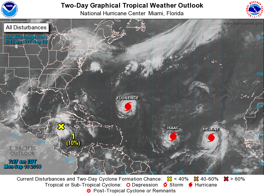 We Have A Parade Atlantic 2 Day Graphical Tropical Weather Outlook National Hurricane Center Atlantic Hurricane Tropical
