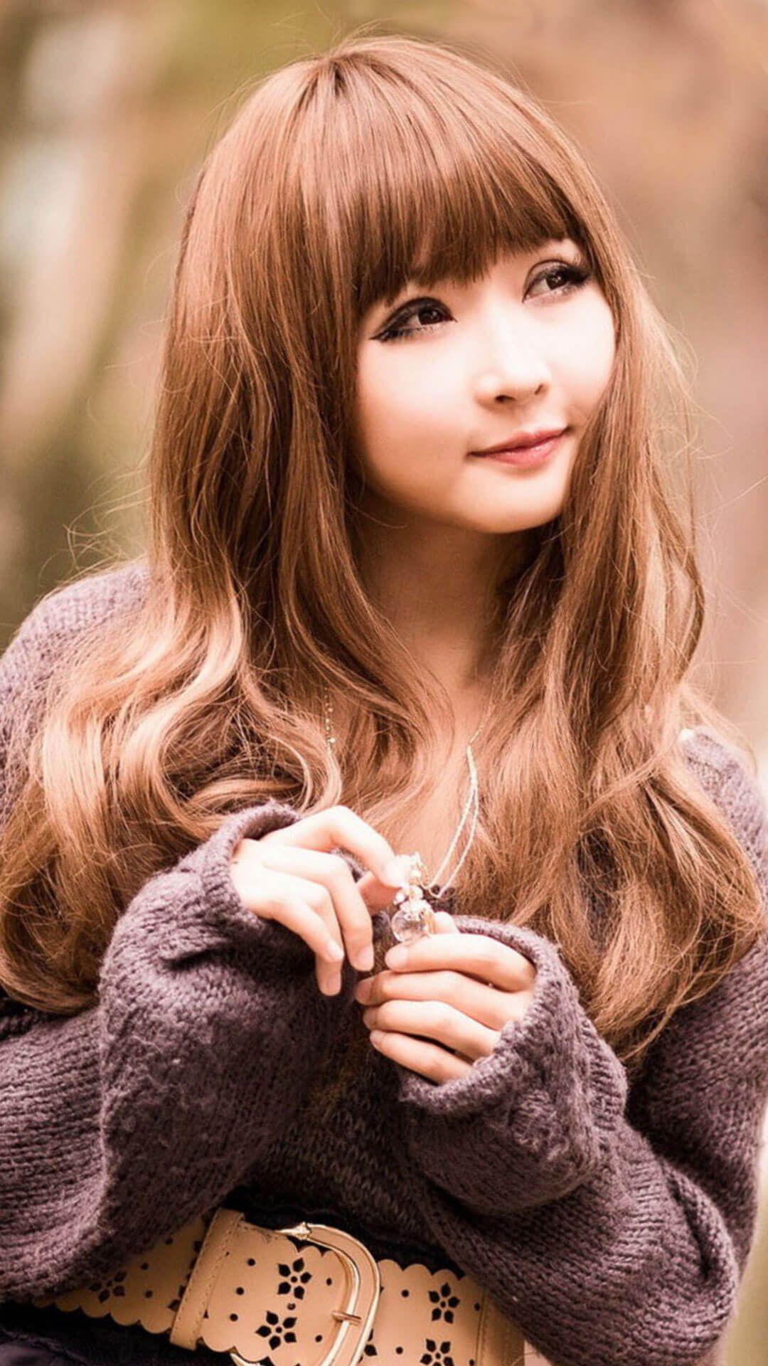Cute Asian Girl HD Desktop Wallpaper Background download