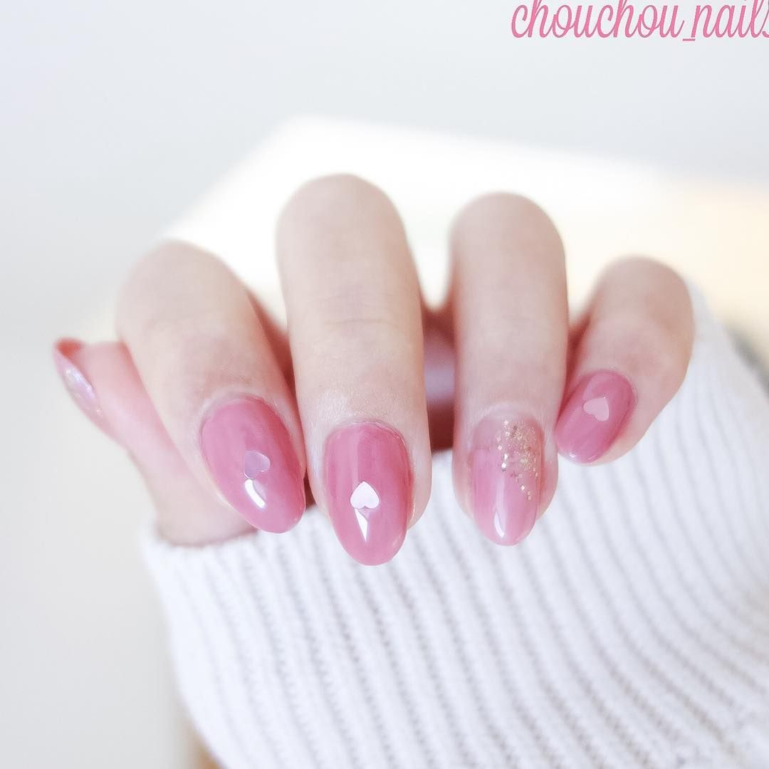 2017 Valentines Day Nail Design Ideas And Inspirations Pink And Heart Point Acrylic And Gel Polish Gel Polish Nail Polish Nails