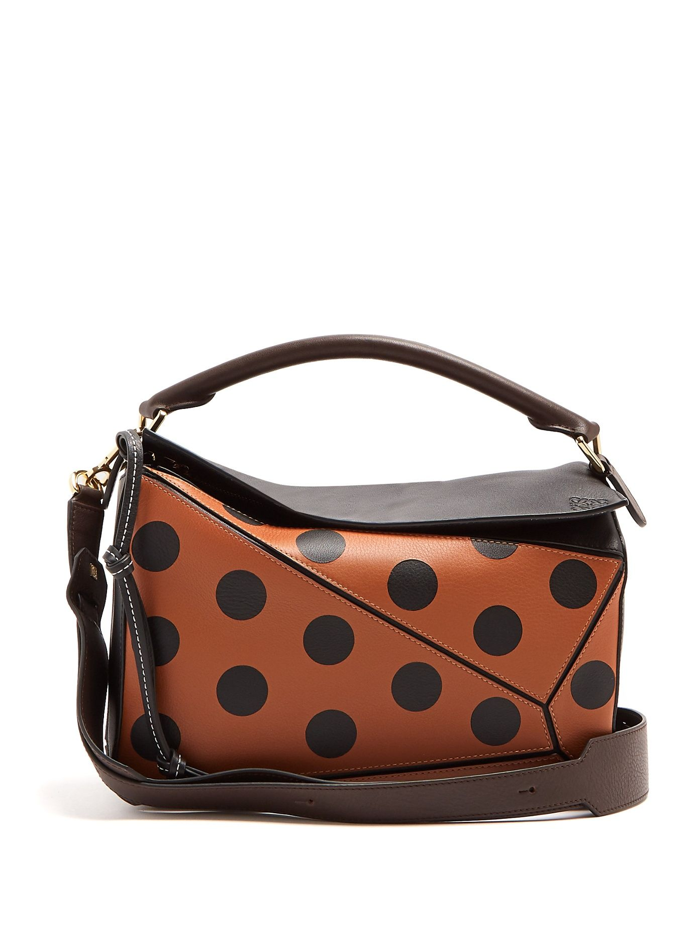a05c4c75be74 Click here to buy Loewe Puzzle polka-dot leather bag at MATCHESFASHION.COM