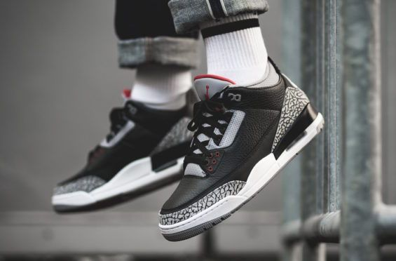 46852e4282e Release Reminder: Air Jordan 3 OG Retro Black Cement (2018)   Air ...