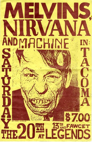 Melvins - Nirvana - Machine | flyer | Music | Pinterest