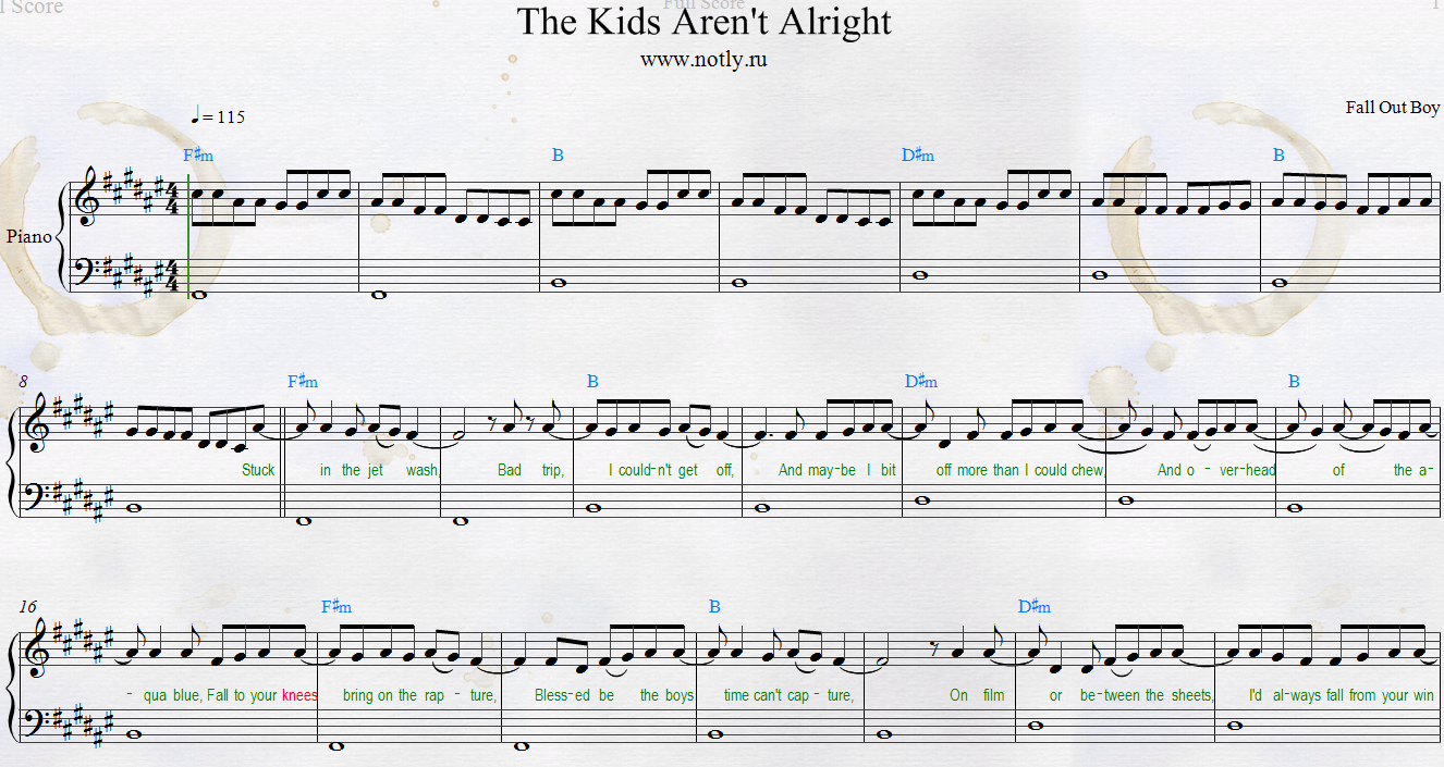 The Kids Aren T Alright Fallout Boys Lyrics