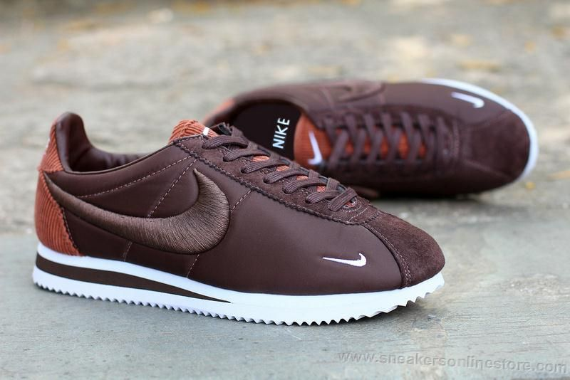 info for aa9fd c9b73 Factory Outlet Nike Classic Cortez 2016 Latest Flowers Running Shoes For  Women Brown