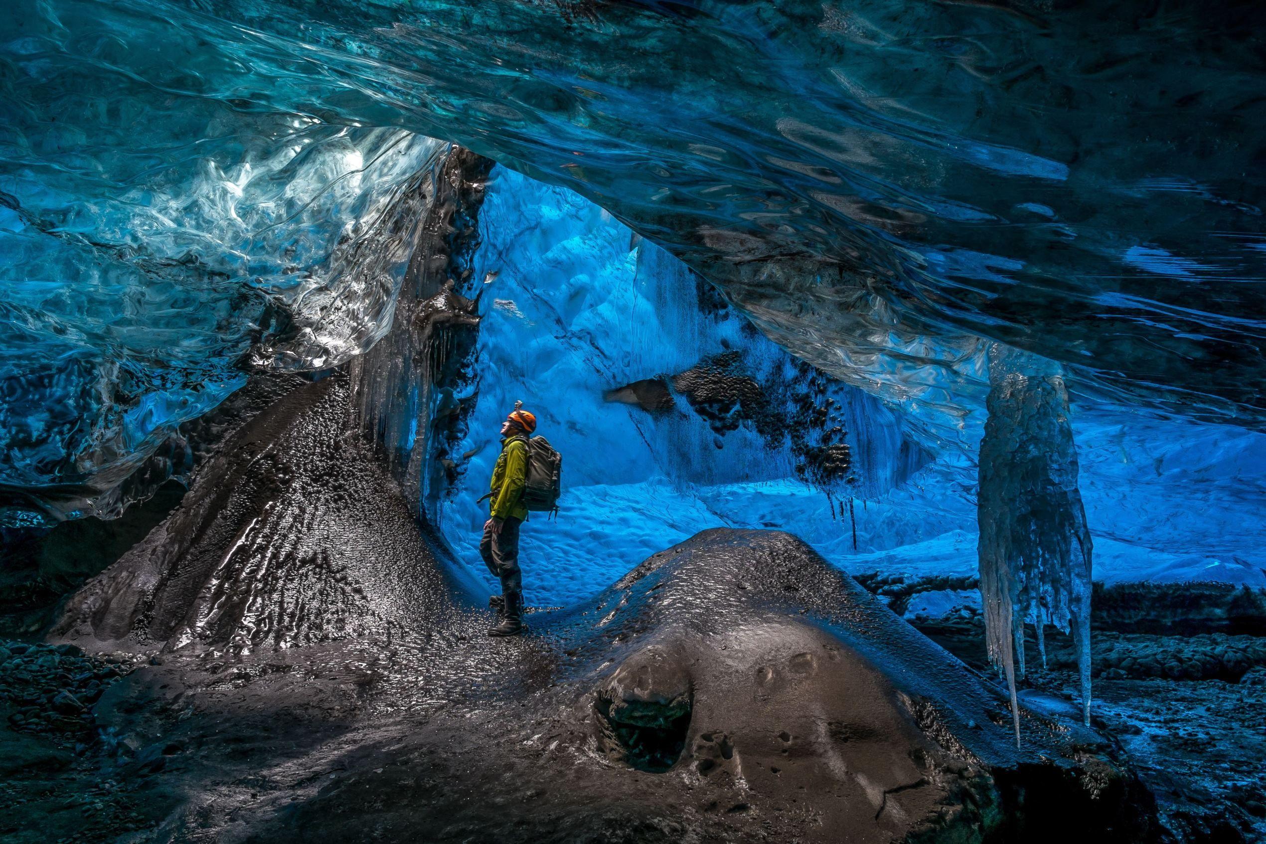 Stunning caves in an Icelandic glacier Iceland glacier