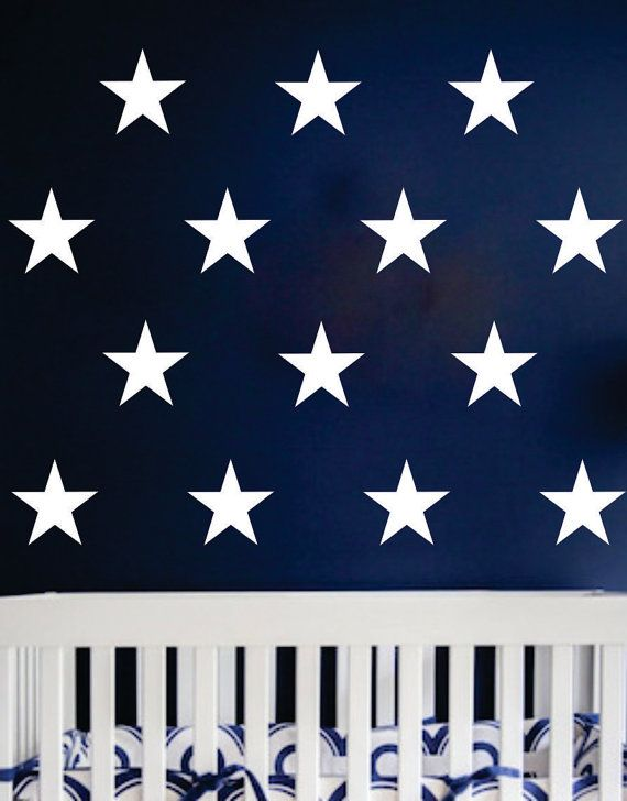 Wall decals large stars 6 inch star wall decals set of 30 patriotic
