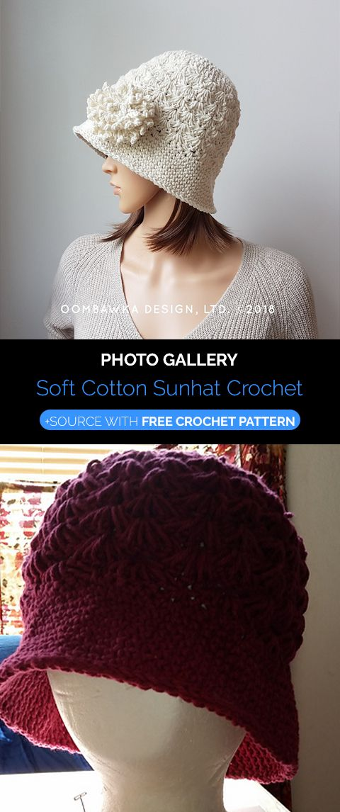 Soft Cotton Sunhat Crochet | Maggie\'s Crochet - All About Crocheting ...