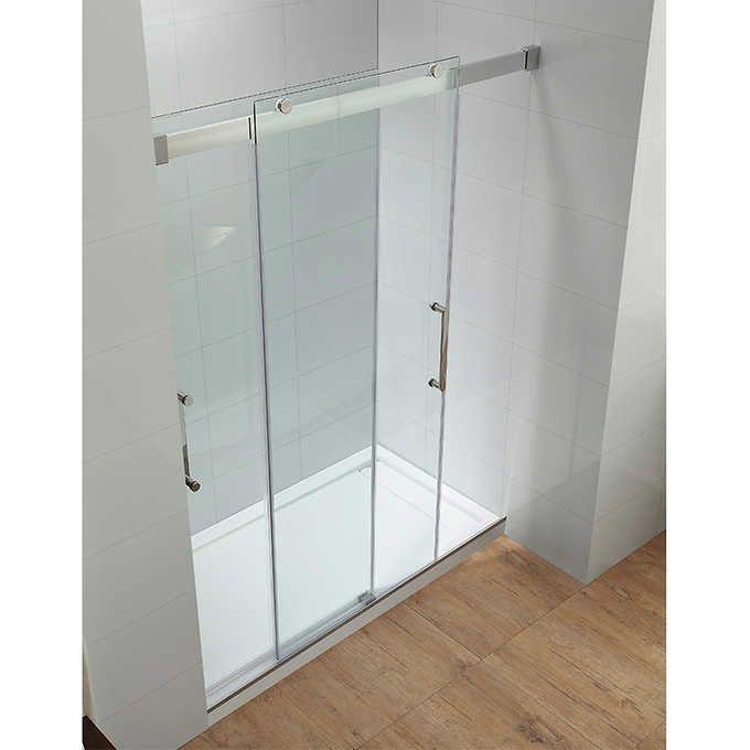 Ove Beacon Double Sliding Glass Shower Door And Base Set Glass Shower Doors Double Glass Doors Shower Doors