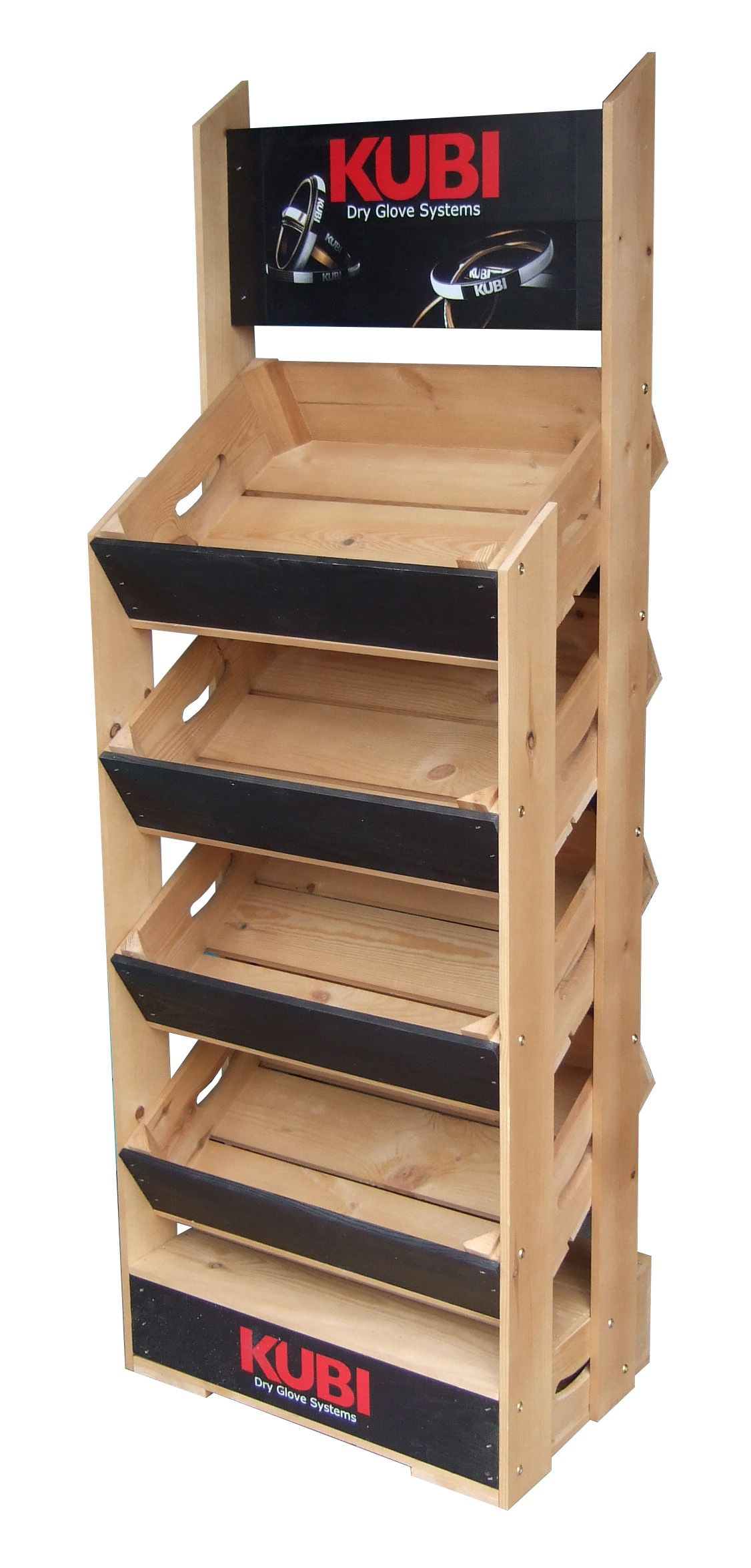 Branded Wooden Crates For Retail Display And Point Of Sale Display