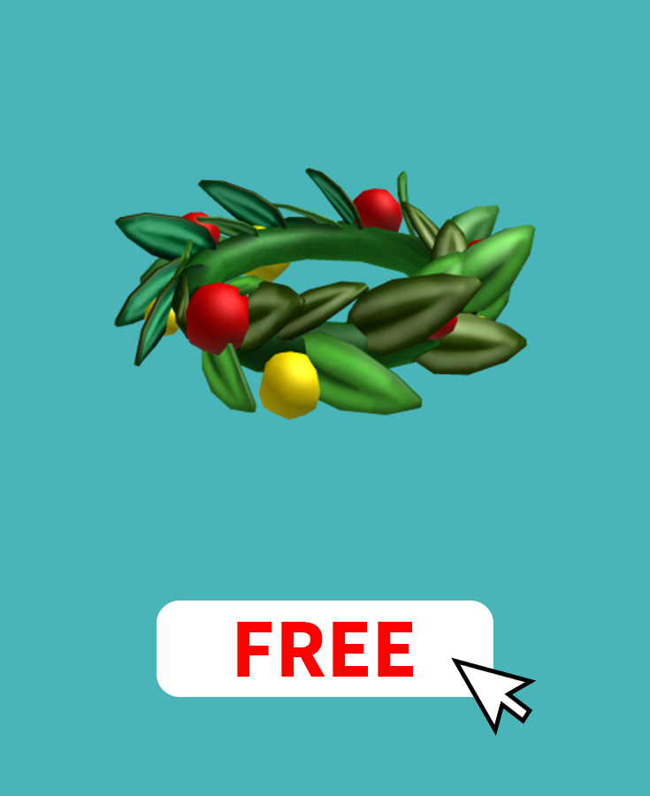 Get The Red Holiday Crown On Roblox For Free By Earning Free Robux