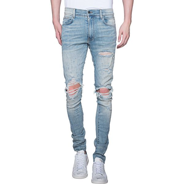 Affordable Cheap Price Cheap Manchester Great Sale Skinny-fit Distressed Waxed Stretch-denim Jeans Amiri New Styles Cheap Price Outlet Inexpensive mqlfSc