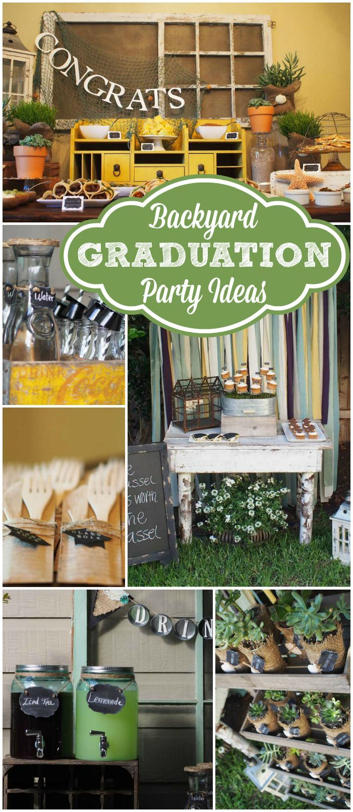 Here S A Trendy Masculine Outdoor Graduation Party See More Ideas At Catchmyparty