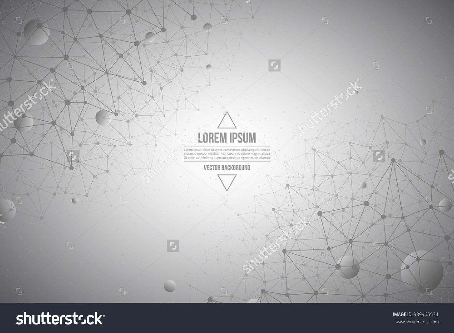 Abstract 3d Vector Technology Gray Background Connection