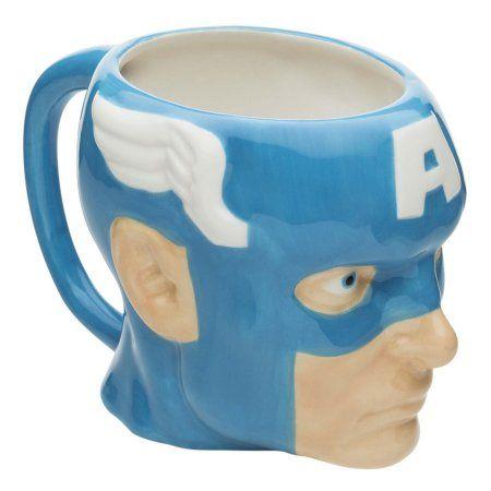 Captain America Sculpted Coffee Mug By Zak Blue