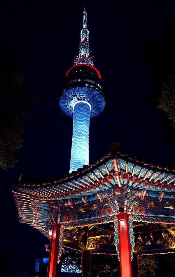 Namsan Tower Seoul Source S Korea Namsan Tower South Korea Seoul South Korea Travel