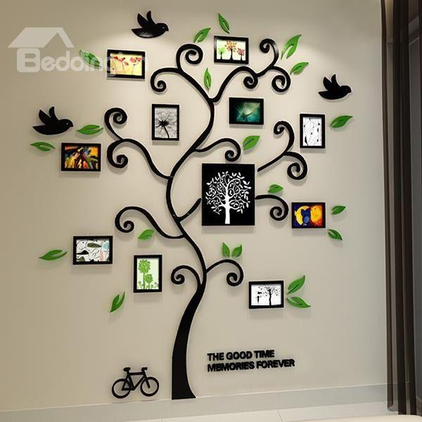 11 photo frame tree country-style acrylic waterproof self-adhesive