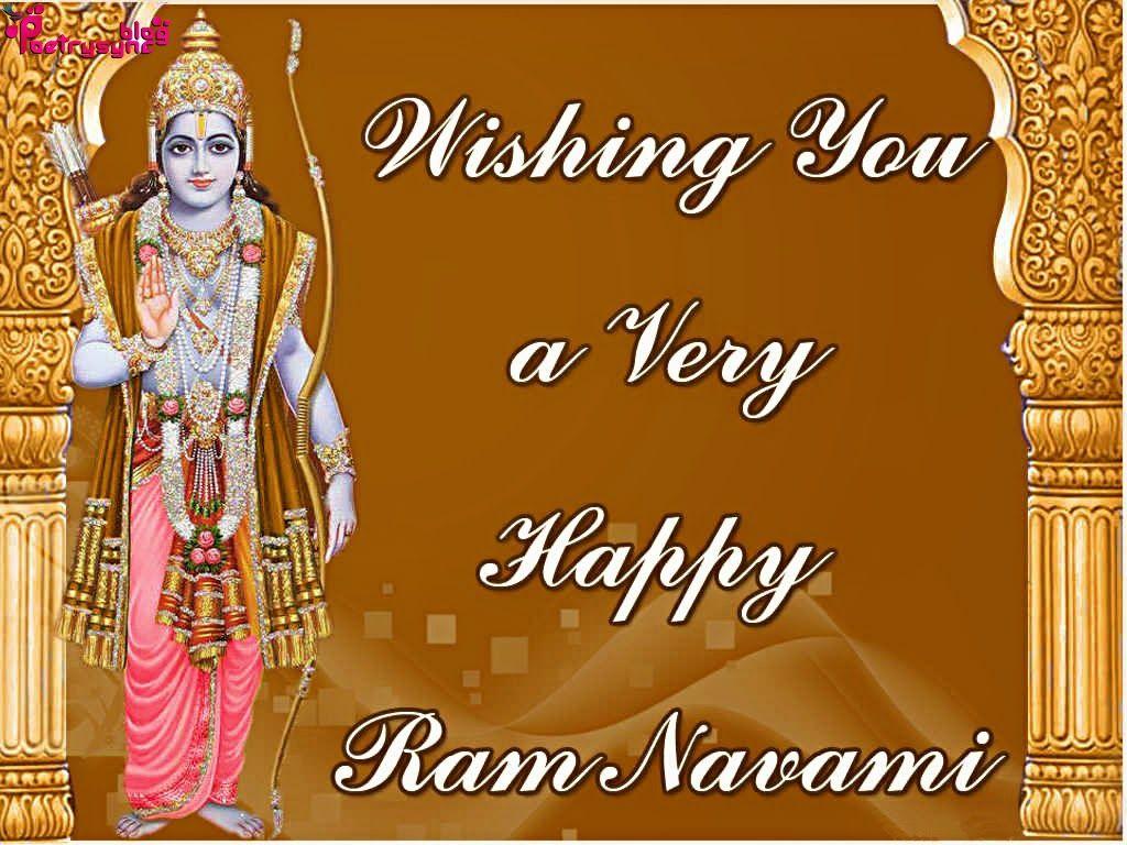 Happy Ram Navami Greetings Sms Card Ram Navami Pinterest Happy