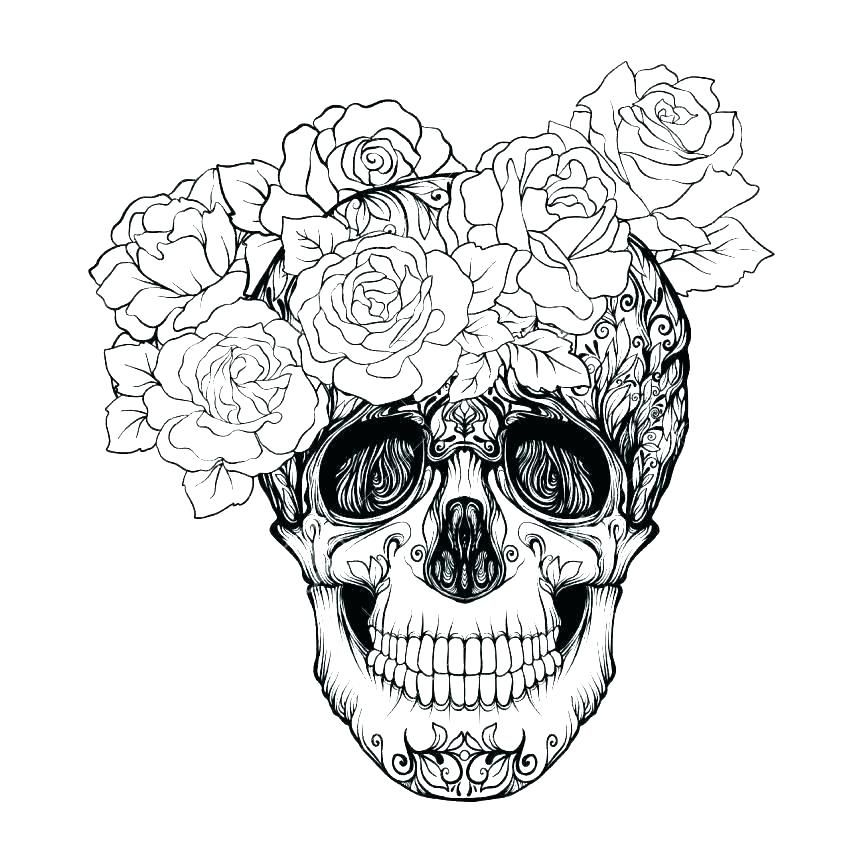 Tattoo Coloring Pages for Adults | Skull tattoo design ...