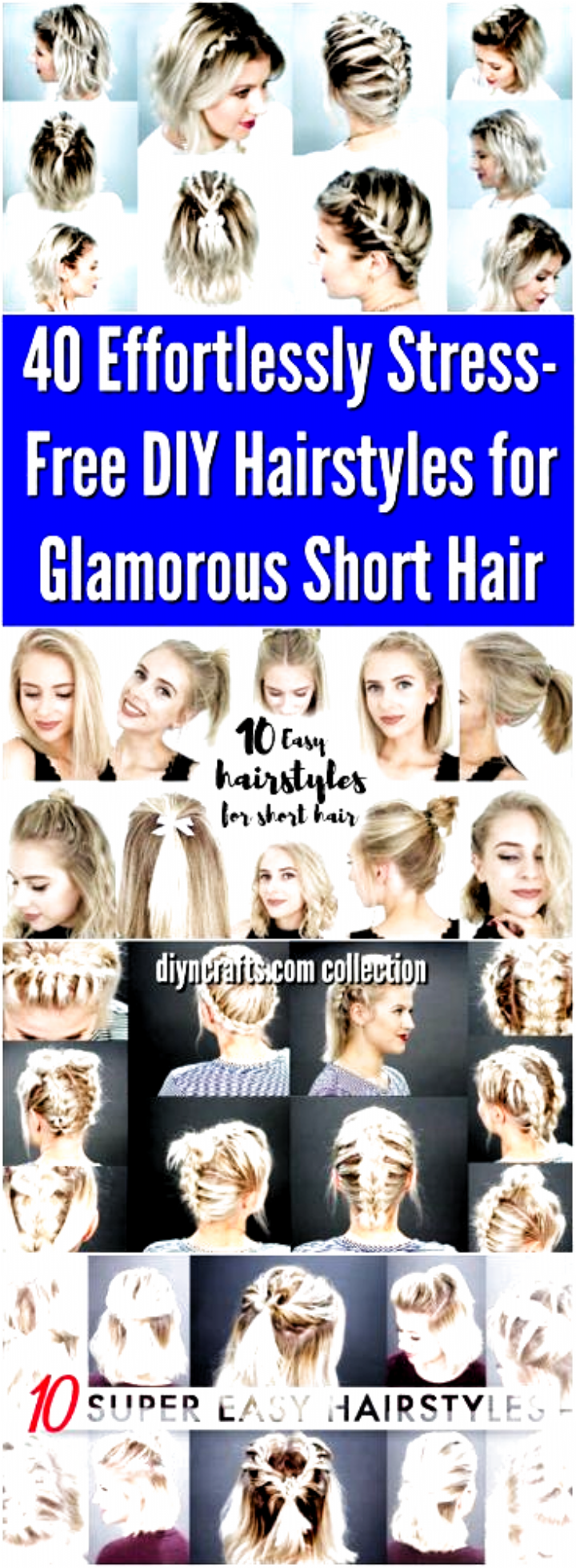 170 Easy Hairstyles Step By Step Diy Hair Styling Can Help You To Stand Apart From The Crowds Page 62 Short Hair Updo Short Hair Styles Medium Hair Styles