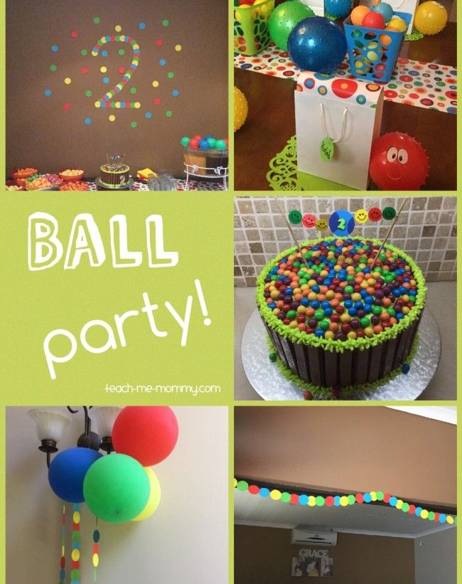 Ball Themed Party For A 2 Year Old Ball Theme Party Boy Birthday Party Themes Boy Birthday Parties