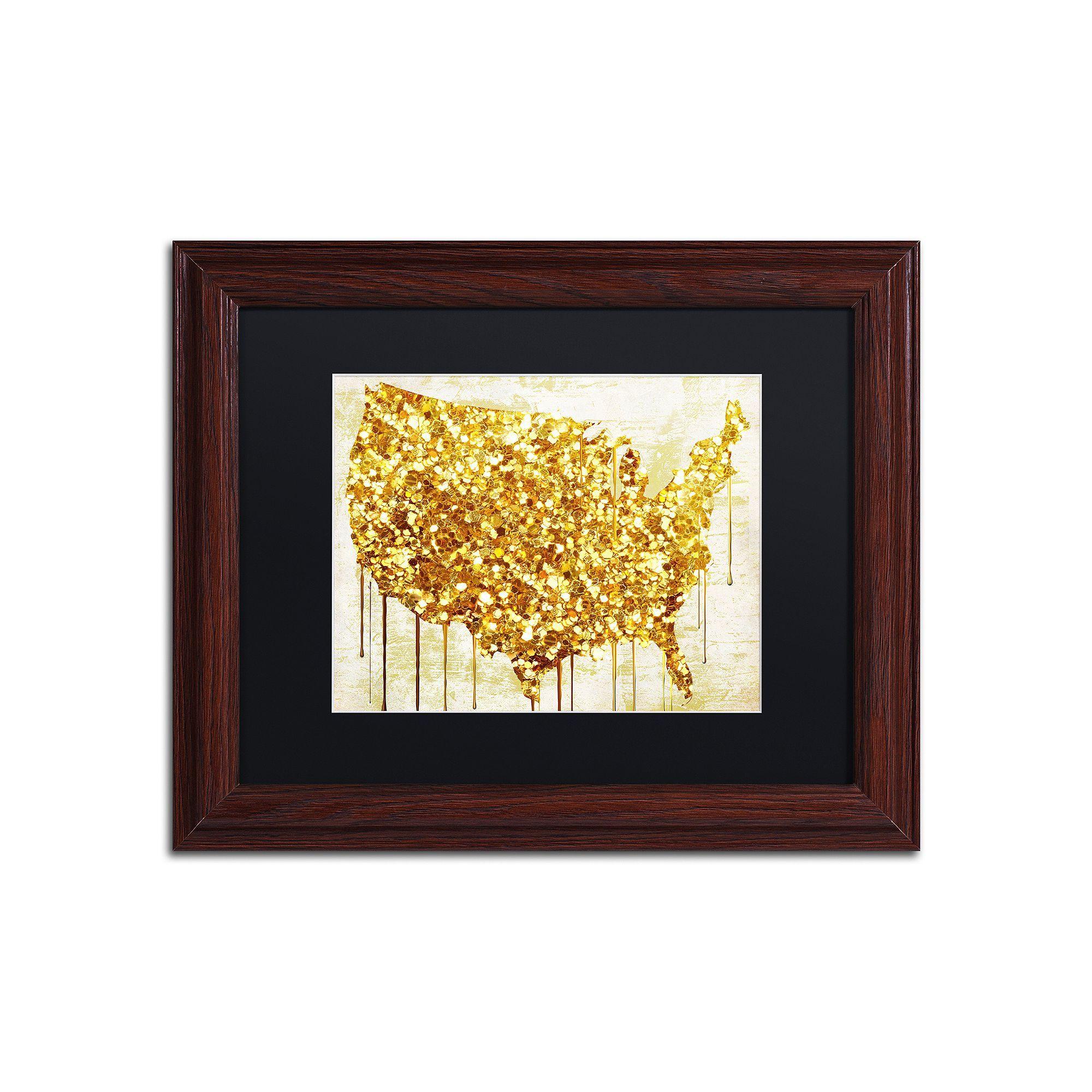 Trademark Fine Art American Dream IV Traditional Framed Wall Art ...
