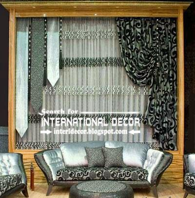 Best Contemporary Curtain Designs 2016 Ideas Styles Black And Silver Curtains