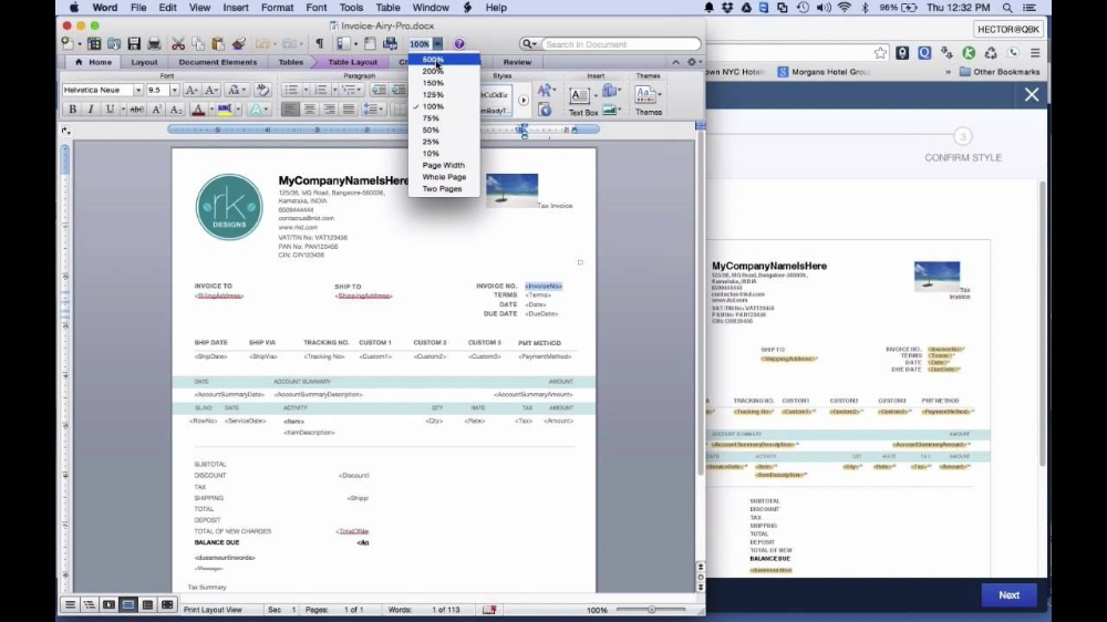 Quickbooks Online Tutorial Customizing Invoice Styles Youtube Throughout How To Change Invoice Template In Invoice Template Quickbooks Online Online Tutorials
