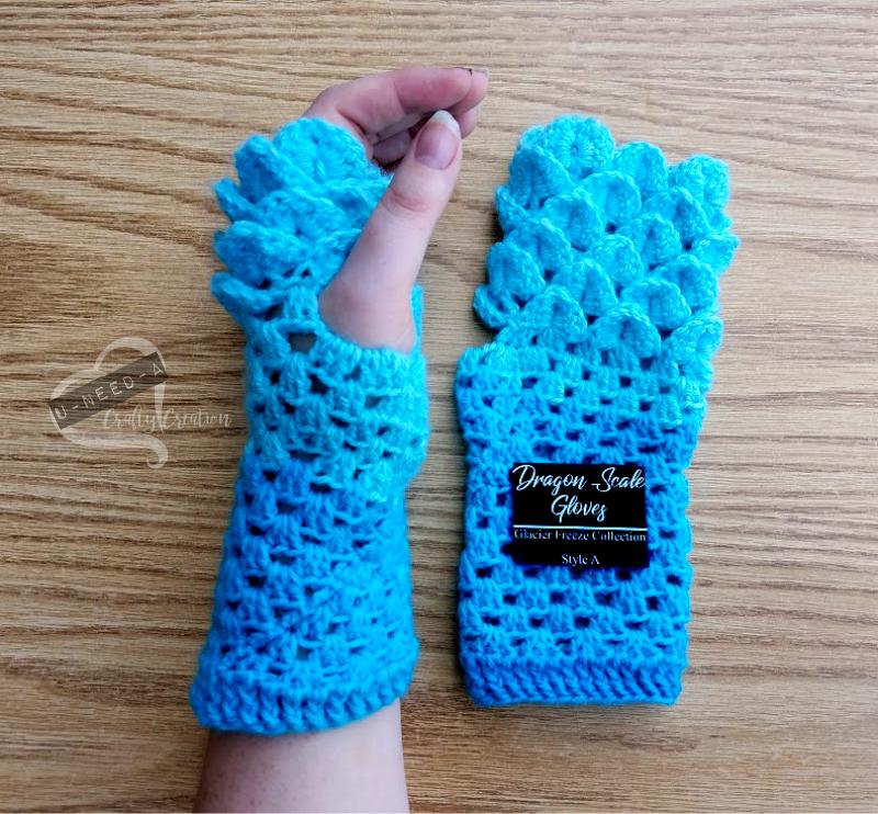 Crochet Patterns Gloves Dragonscale Gloves Dragon Scale Fingerless