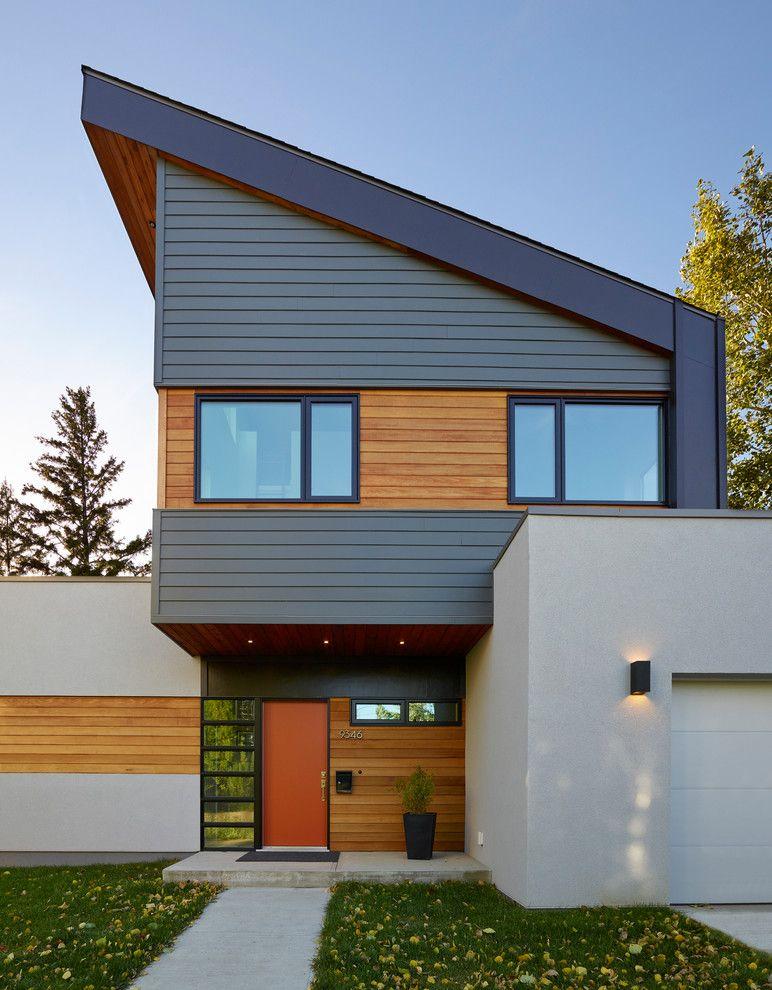 Cedar shake siding exterior contemporary with exterior for Modern house siding