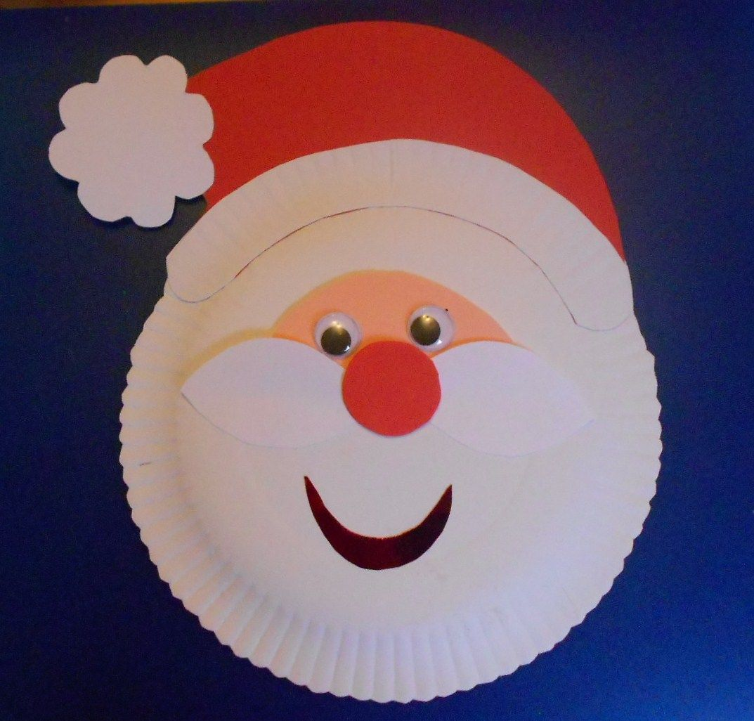 Santa Claus Arts And Crafts Paper Plates