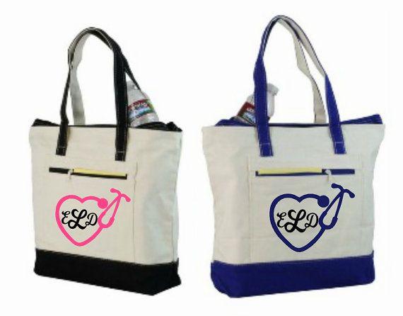 Nurse Bag Nursing Tote Personalized By Elainescrafts