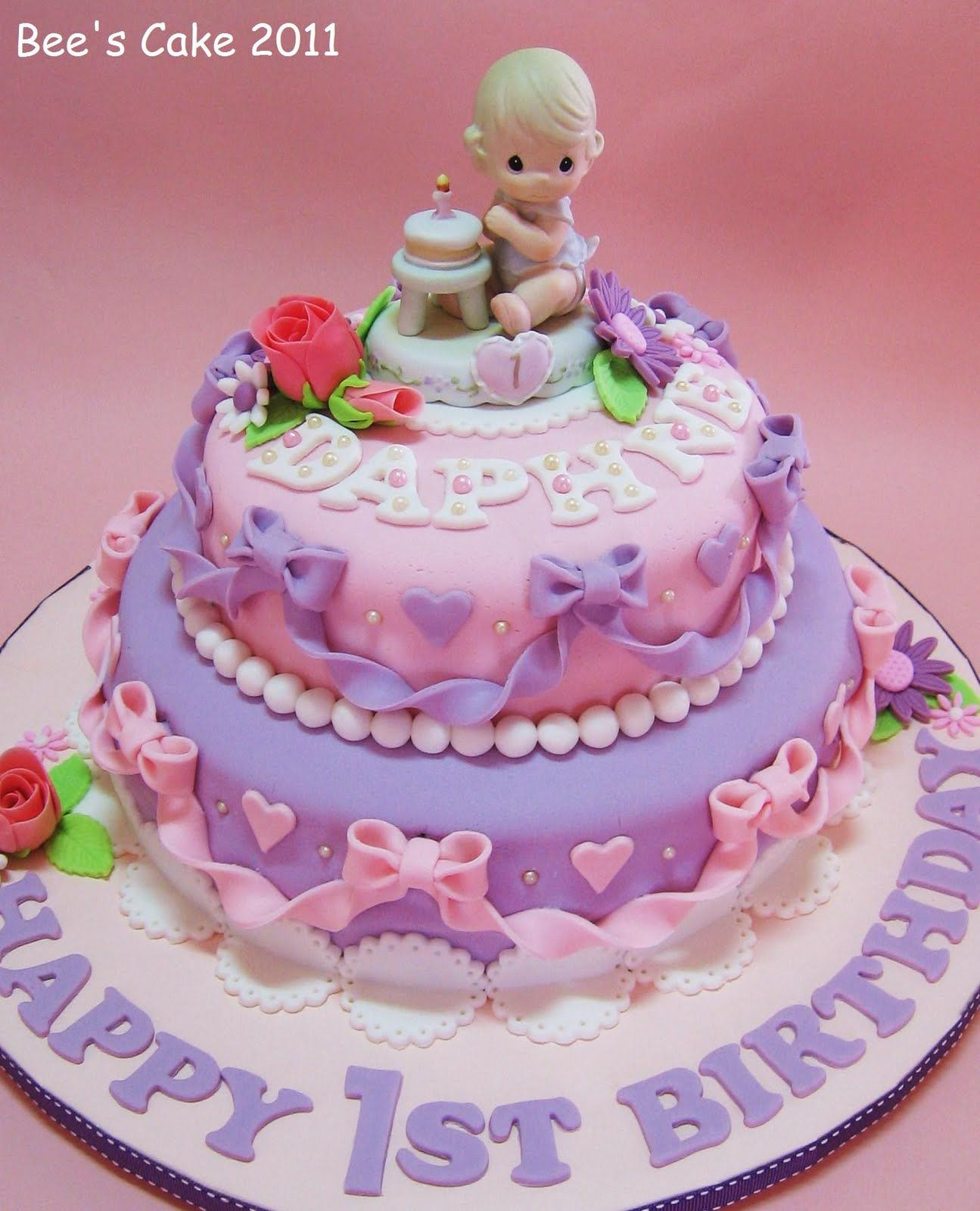 baby girls 1st birthday cake … Girls first birthday cake