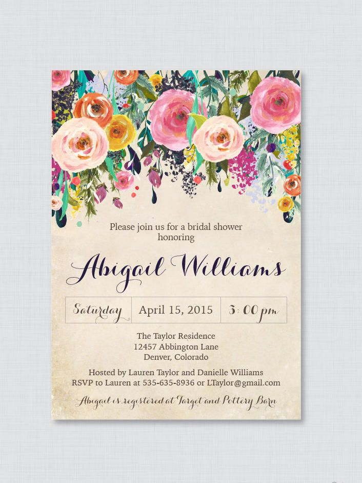 17 Printable Bridal Shower Invitations You Can DIY | Shower ...