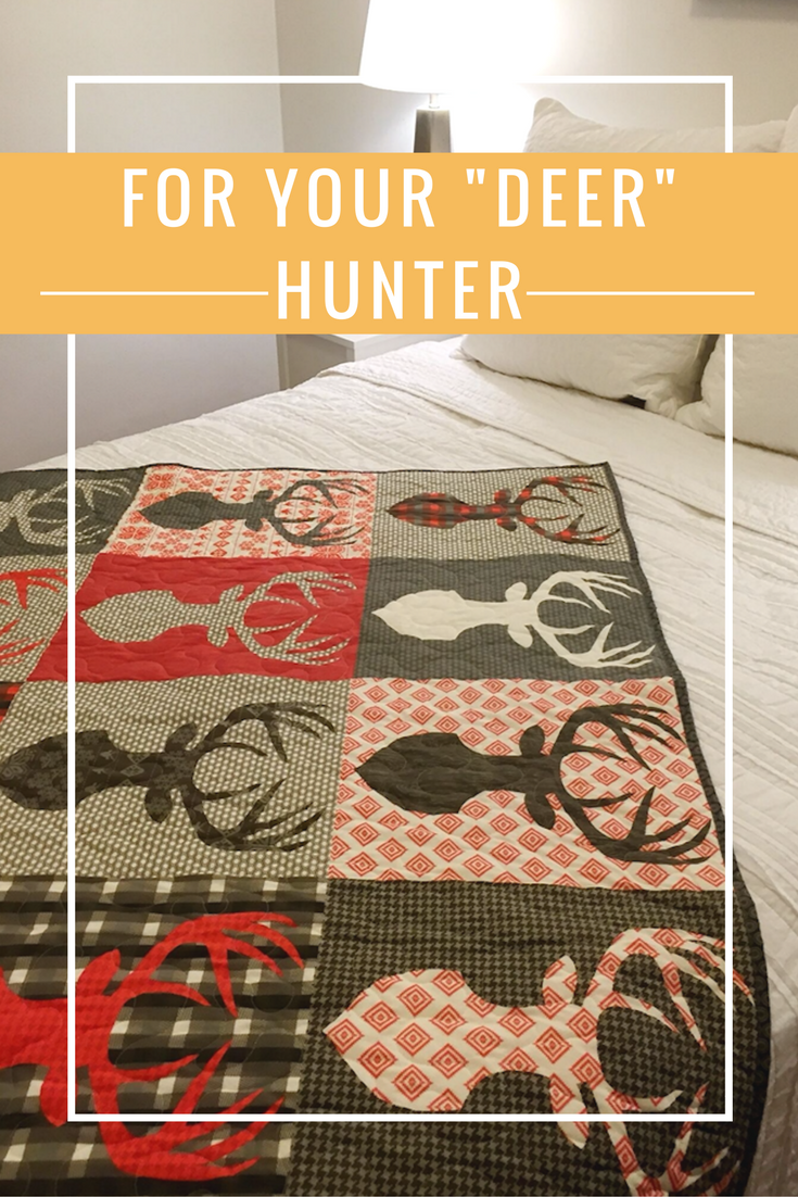 Big Game - Deer Quilt with Antlers | Custom quilts, Gift and Craft : customized quilts - Adamdwight.com