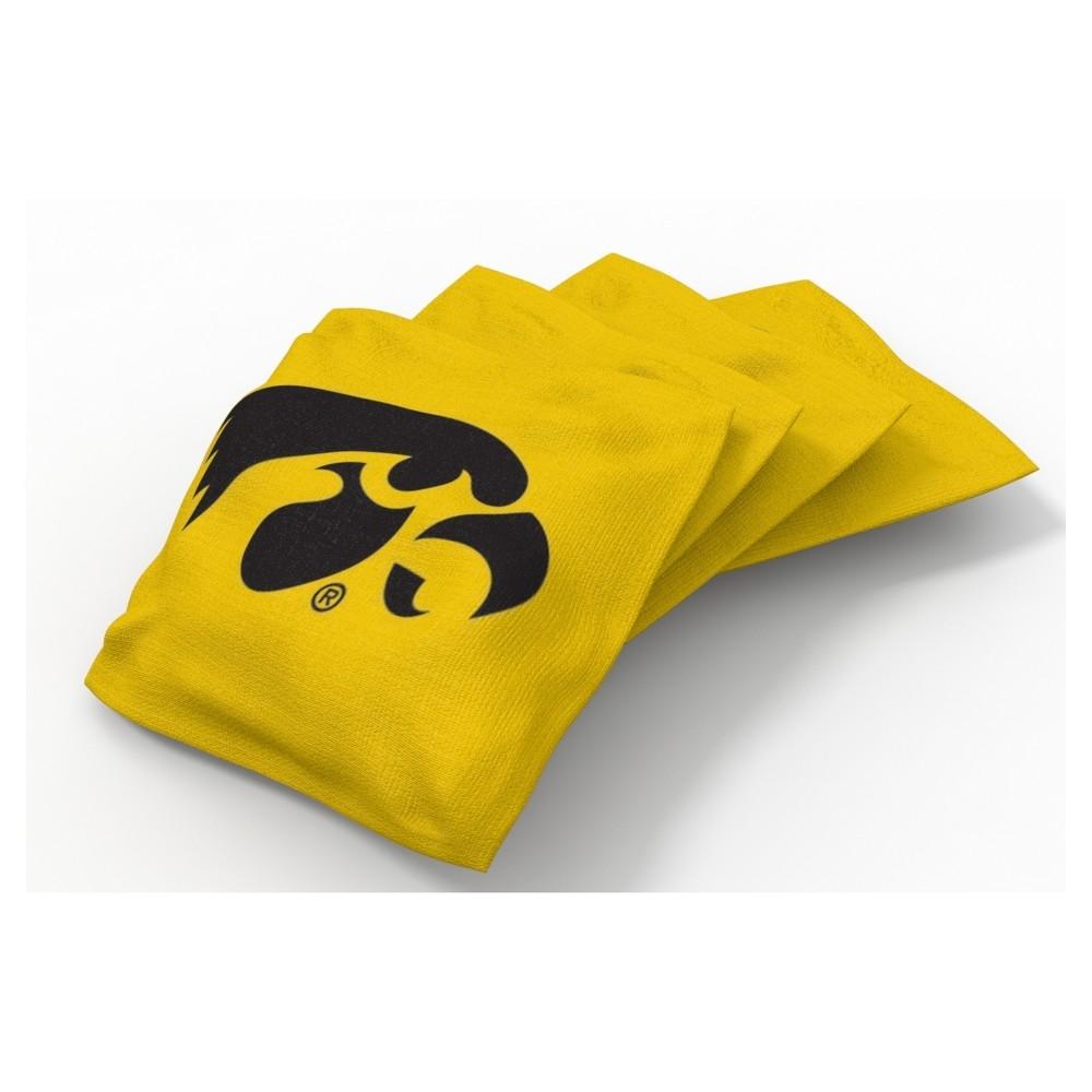 Pleasing Ncaa Iowa Hawkeyes Wild Sports 4Pk Regulation Bean Bag Set Dailytribune Chair Design For Home Dailytribuneorg