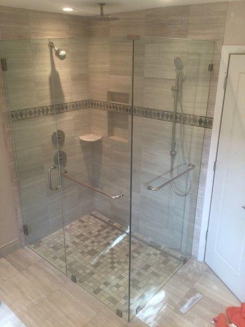 Bathroom shower tile - Legno Travertine Wall Tile - 12 x 18 in.