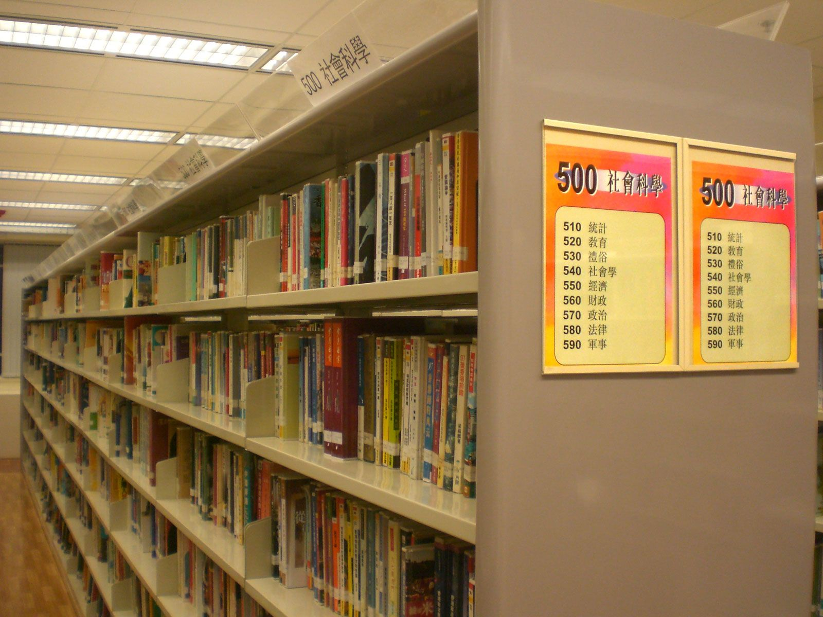 Library Aisle Signs