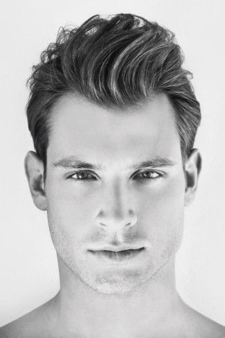 Beautiful Mens Hairstyle Widows Peak