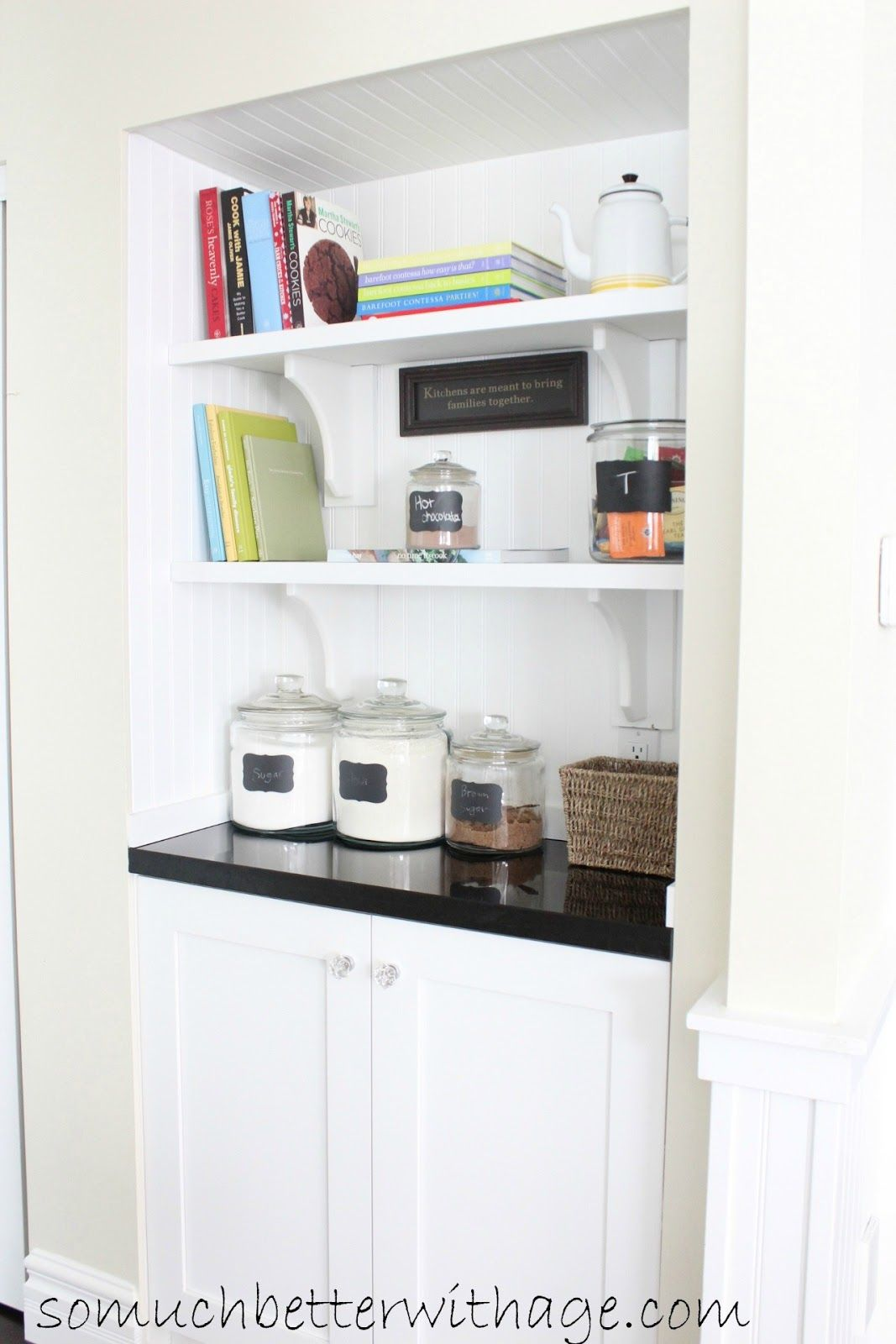 Turn a closet into a butleru0027s pantry like Jamie from Better with Age blog.  So