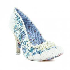 65df645e252 Irregular Choice Pearly Girly 3614-48D Womens Court Shoes - White ...