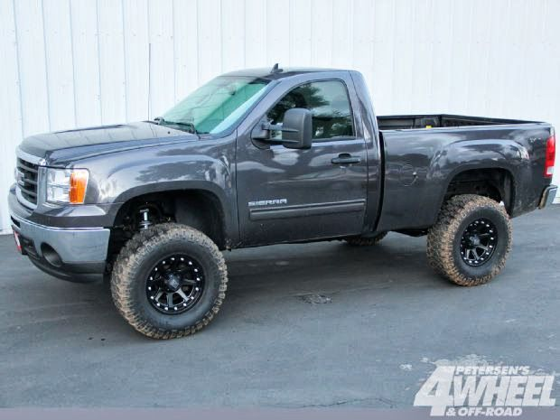 2014 Chevy Single Cab Jacked