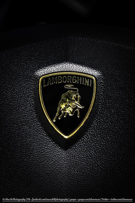 Photograph Lamborghini Aventador Lp700 4 Steering Wheel Logo By