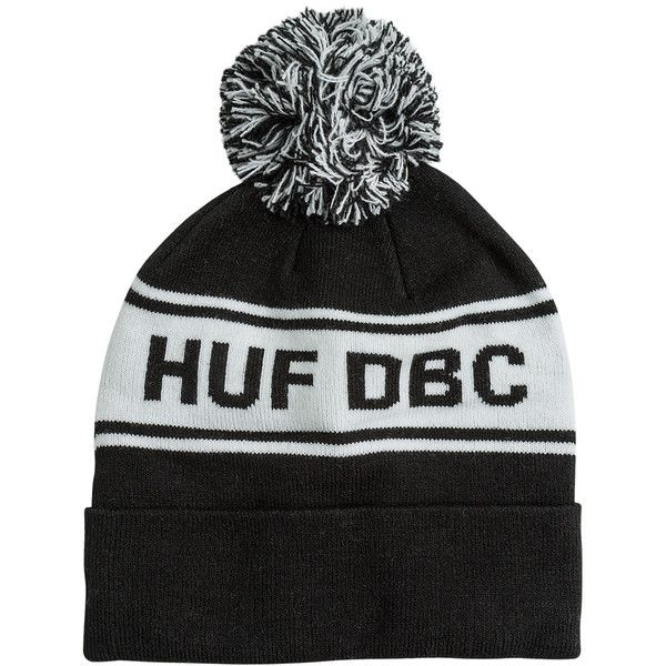Huf Dbc Pom Beanie (245 CNY) ❤ liked on Polyvore featuring accessories edd6dd480731