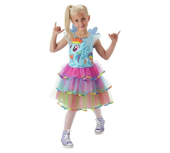 Dress-up Cos-play New My Little Pony Rainbow Dash Costume Wig Adult Age 14
