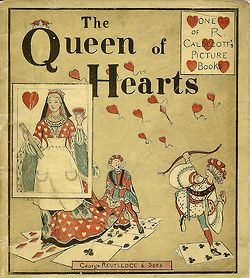 1890 Randolph Caldecott, 'The Queen of Hearts', Cover (by Le Petit Poulailler)