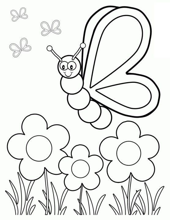 Top 35 Free Printable Spring Coloring Pages Online Butterfly